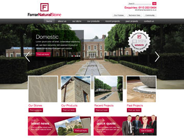 Farrar Natural Stone Website